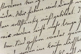 Historic Handwriting Style on Hand-Made Paper — Stock Photo