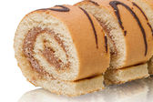 Sliced cake roll close-up — Stock Photo