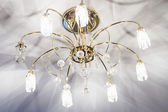 Chandelier with crystal — Stock Photo