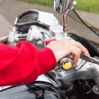 Man on a motorcycle — Stock Photo