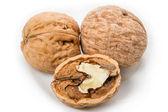 Three walnuts — Stock Photo