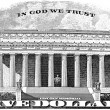 Lincoln Memorial In God We Trust — Stock Photo #22586331