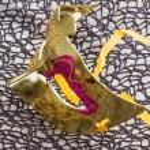 Golden carnival mask — Stock Photo