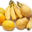 Foto Stock: Yellow fruit on white