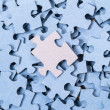Stock Photo: Blank Puzzle background