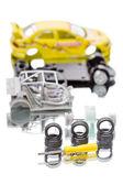 Car parts children's designer — Stock Photo