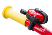 Bicycle bell on handlebars — Stock Photo