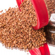 Sprinkled buckwheat — Stock Photo