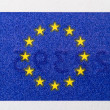 European Union Flag on Paper Currency — Stock Photo