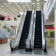 Escalator in shopping mall — Stok fotoğraf