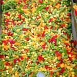 zmrazená čerstvá zelenina — Stock fotografie