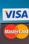 Visa and Mastercard close-up — Stock Photo