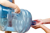 Child with a big bottle — Stock Photo