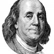 Stock Photo: Benjamin Franklin (head to left)