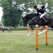 Young rider show jumping — Photo