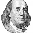 Benjamin Franklin (head to the left) — Stock Photo