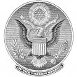Great Seal of United States cutout (vector) — Stok Vektör