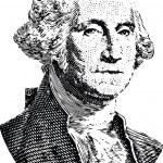 Washington portrait (vector) — Stock Vector