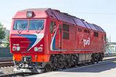Diesel passenger locomotive — Stock Photo