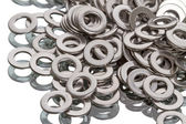 Chrome  washers — Stock Photo