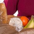 Woman Carrying Bag Of Groceries — Stock Photo #48679041