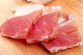 Salty bacon slices  — Stock Photo