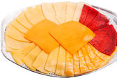 Six different types of cheese — Stock Photo
