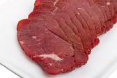 Slices bastourma — Stock Photo
