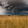 Strong storm gathers over plains — Stock Photo #2535021