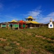 A deserted Buddhist temple in northern Mongolia. — Stock Photo