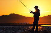 Fishing in the Mongolia — Stock Photo