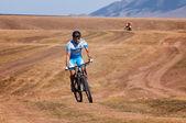 приключения горный велосипед марафон — Стоковое фото
