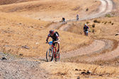 Adventure mountain bike marathon — Stock Photo