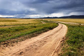 Roads in the Mongolia — 图库照片