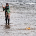 Fishing in the Mongolia — Stock Photo