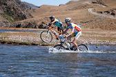 горный велосипед кросс-кантри марафон — Стоковое фото