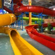 Indoor aquapark - Stock Photo