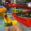 Indoor aquapark — Stock Photo