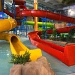 Indoor aquapark — Stock Photo
