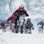 Постер, плакат: Winter motocross
