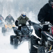 Stock Photo: Winter motocross
