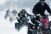 Winter motocross — Stock Photo