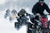 Winter motocross — Stock Photo