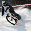 Winter mountain bike competition - Stockfoto