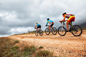 Mountain bike competition — 图库照片