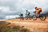 Mountain bike competition — Stock Photo