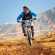 Extreme mountain bike competition — Stock Photo