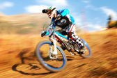 Extreme mountain bike competition — 图库照片