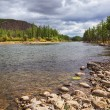 Stock Photo: River Shishged in Mongolia.