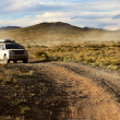 Stock Photo: Car on road in the Mongolia